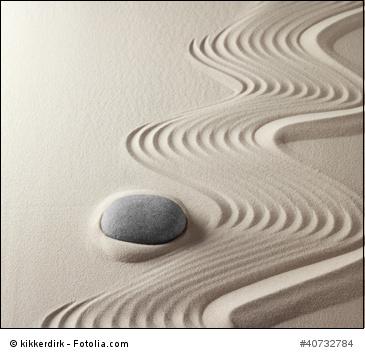 Zen-Garten Sand und Stein